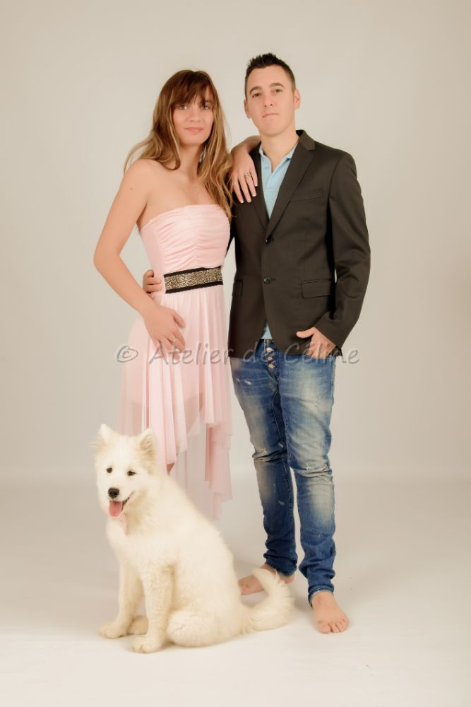 photos studio, couple, animaux (2)