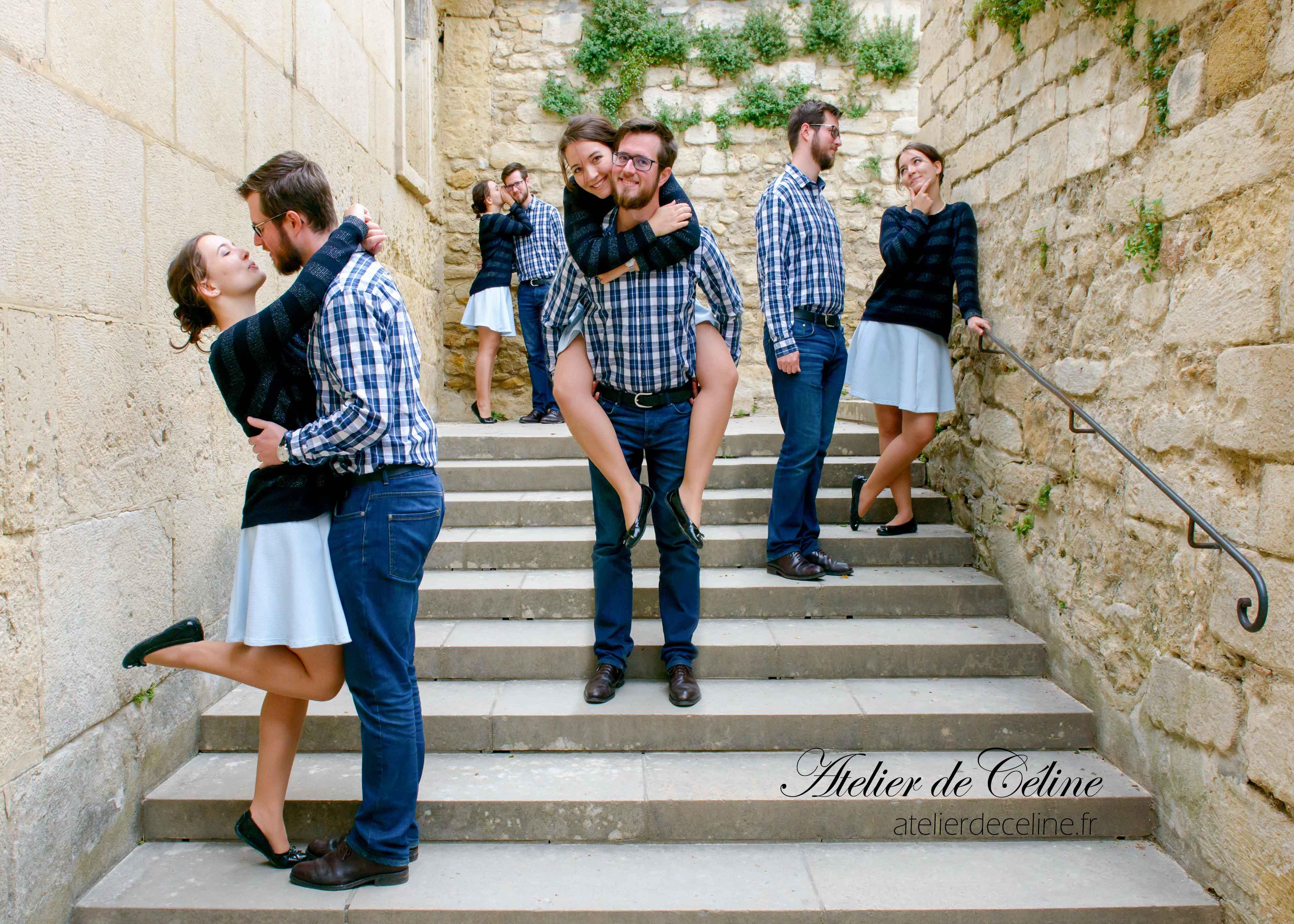 Photos mariage, séance engagement, studio, couple, clichés (2)