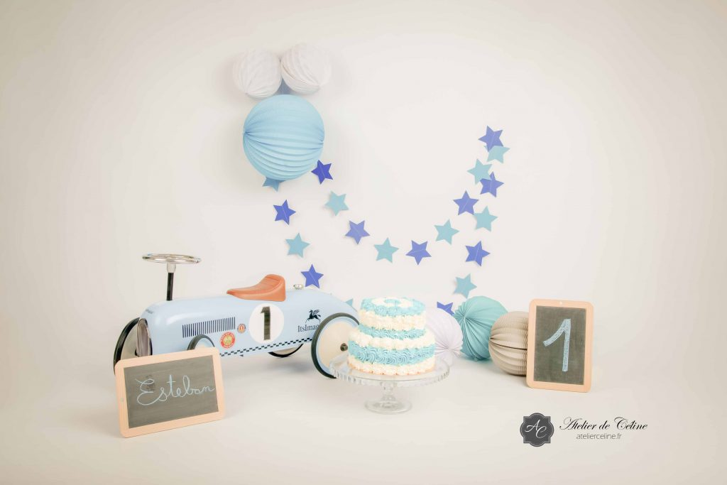 Séance Smash The Cake, studio, enfant, 1 an (6)
