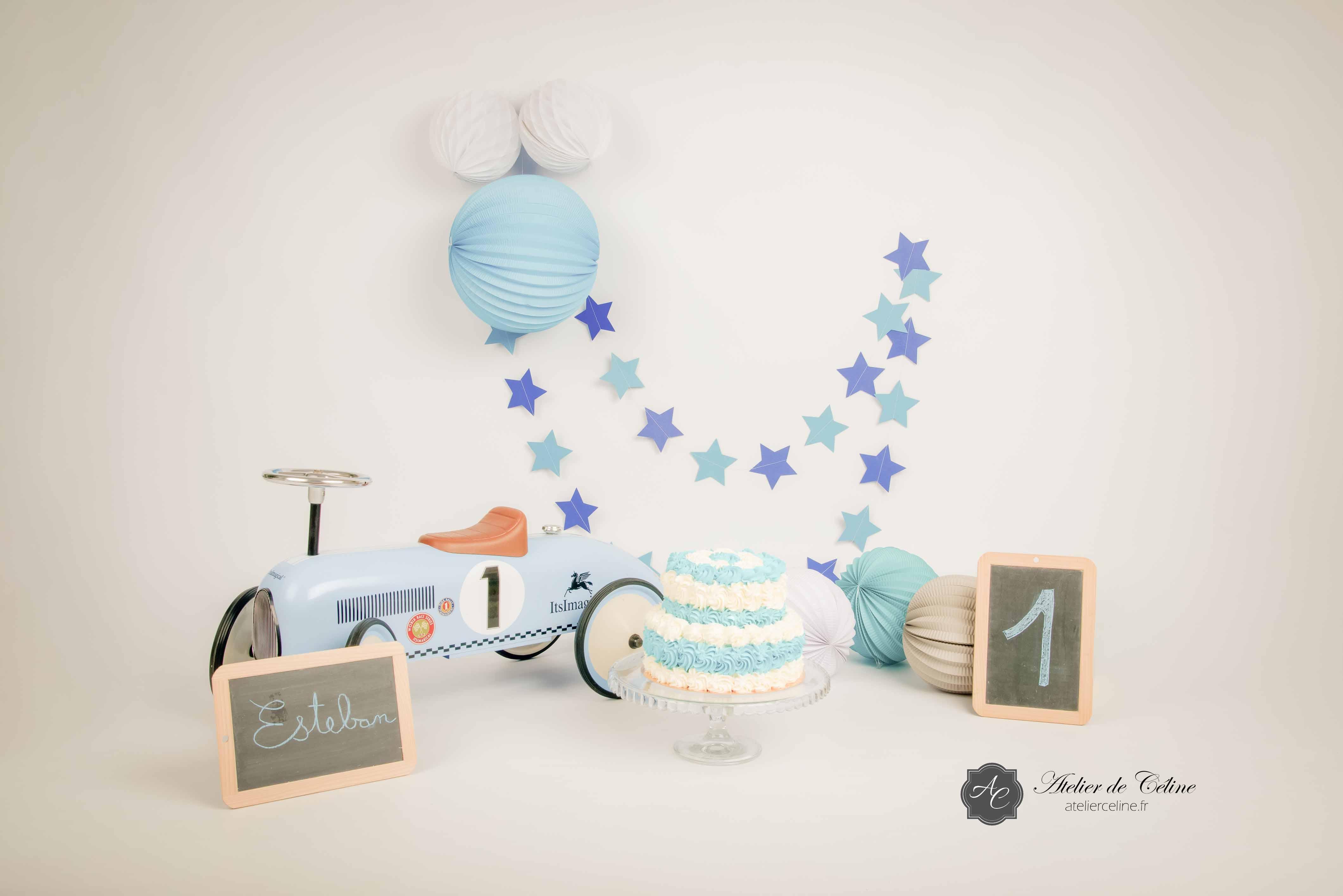 Séance Smash The Cake, studio, enfant, 1 an (6)