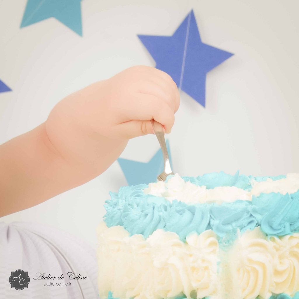 Séance Smash The Cake, studio, enfant, 1 an (1)