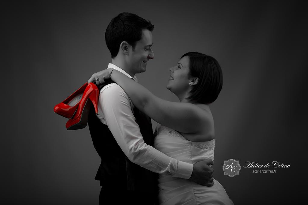 Séance photos studio, couple, mariage (2)