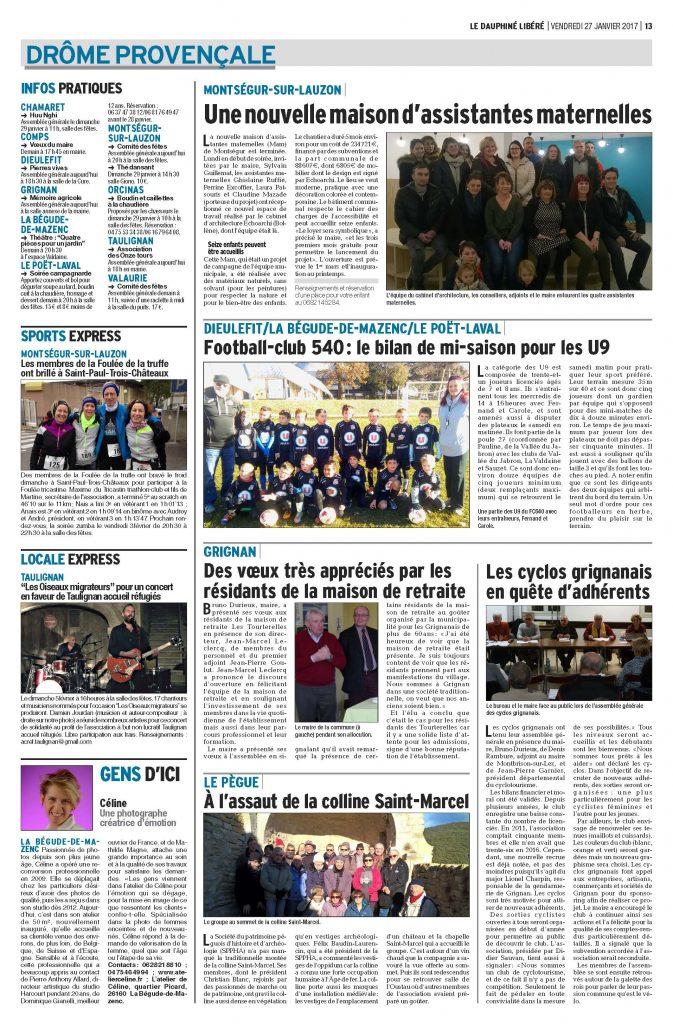 Article presse, Atelier de Céline, Photographie, La Bégude de Mazenc (1)