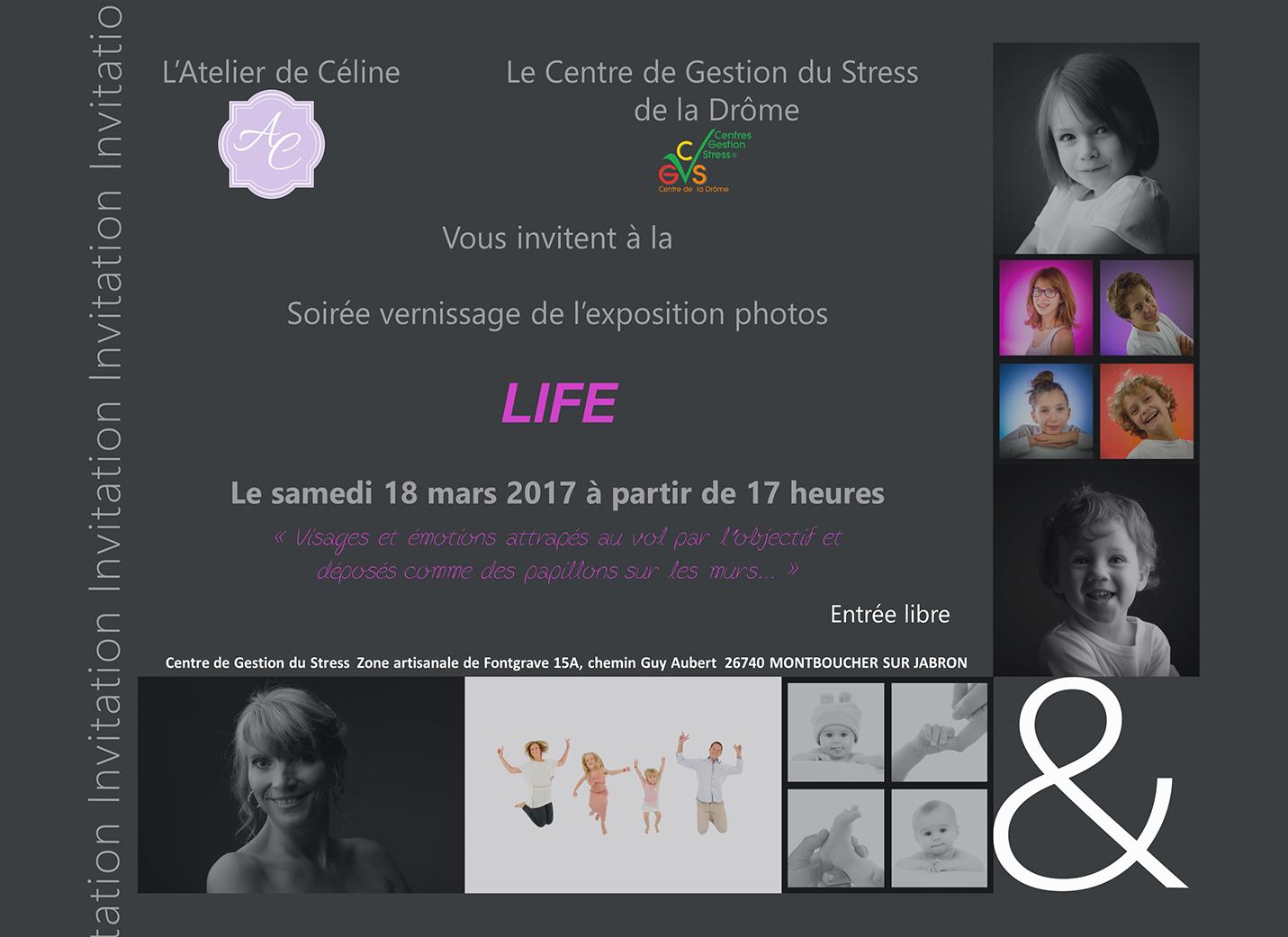 exposition photos femme enfant famille bébé Atelier de Céline