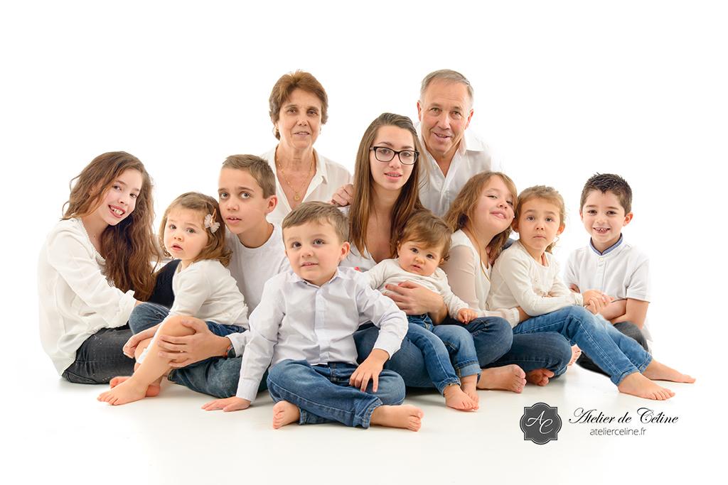 Séance famille, studio, enfants, parents (3)
