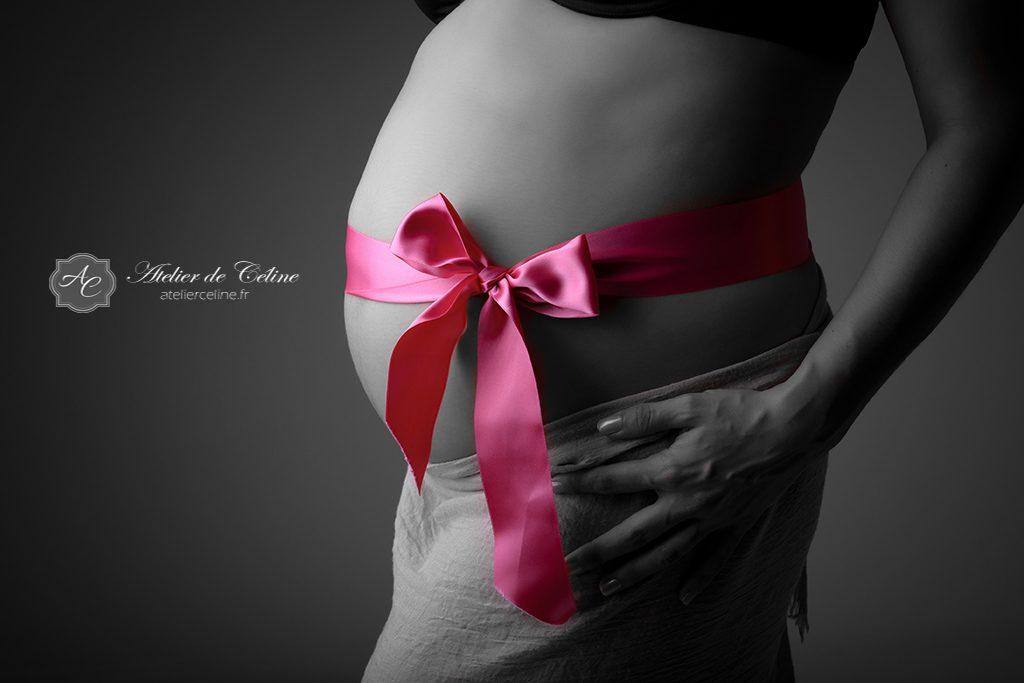 Séance grossesse, studio, femme, couple, femme enceinte (1)