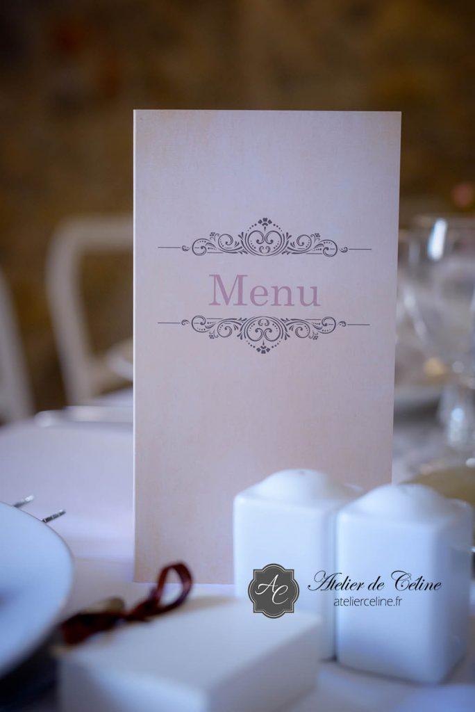 Mariage, faire part, menus (3)