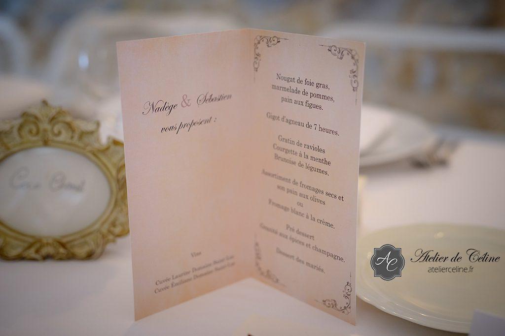 Mariage, faire part, menus (2)