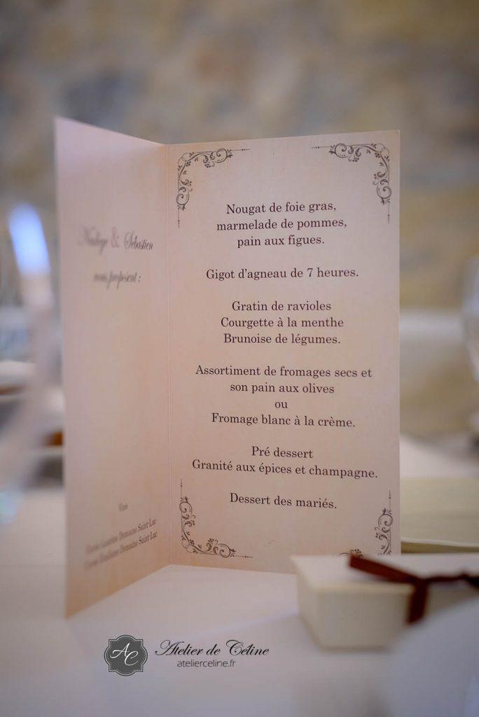 Mariage, faire part, menus (1)