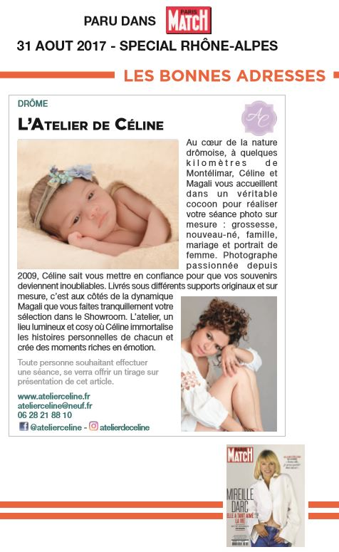 article paris match atelier de celine