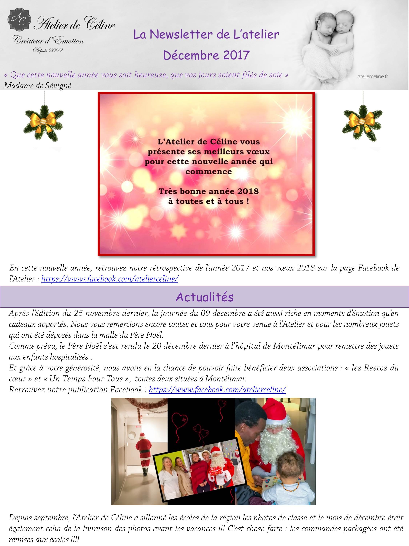 Newsletter atelier studio famille enfant bébé