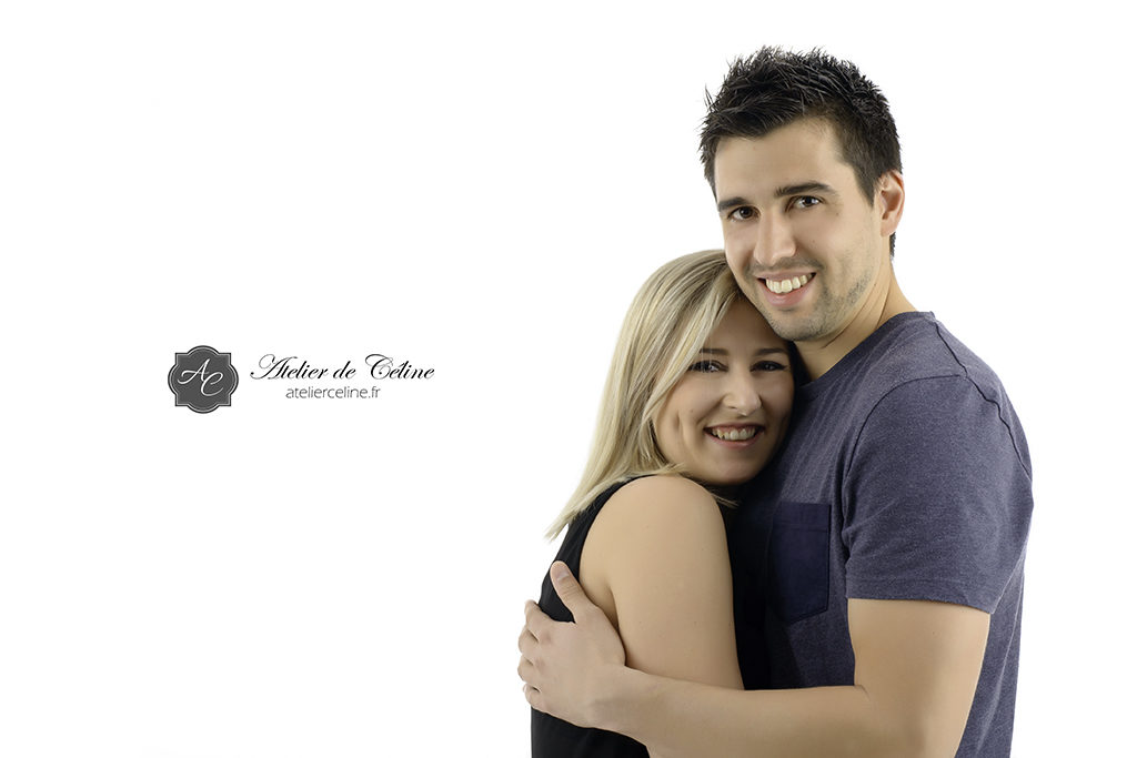 Photos couple studio engagement mariage (1)
