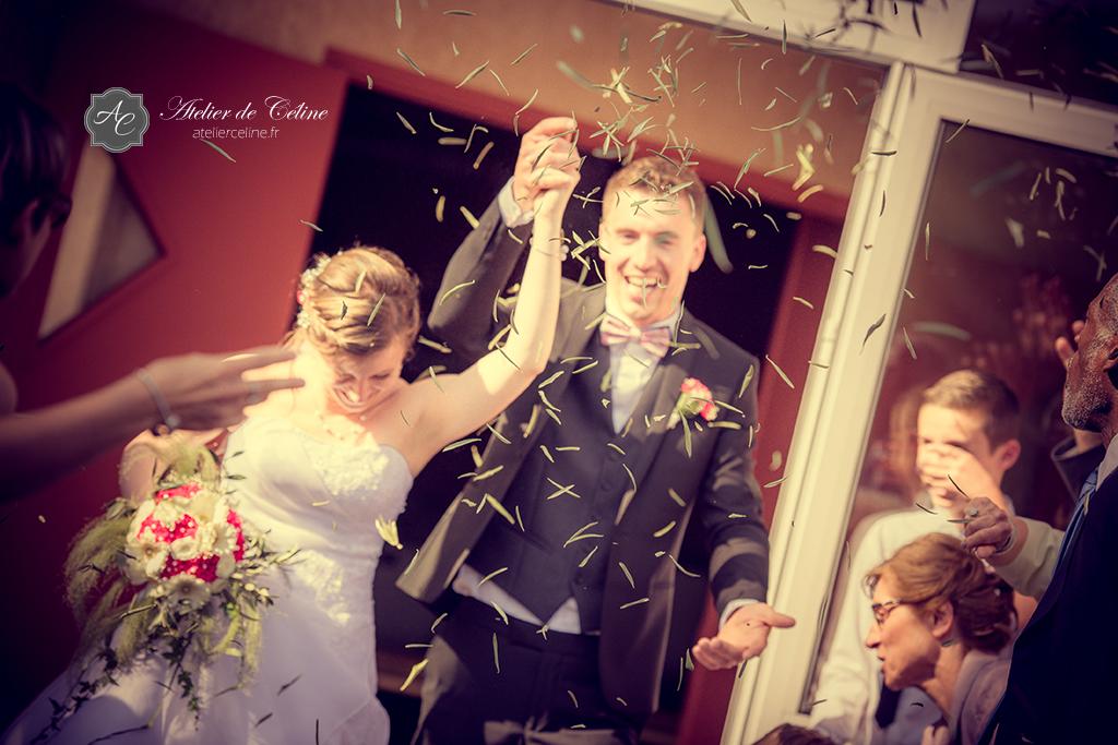 Mariage, cérémonie religieuse, couple, extérieur, église (2)