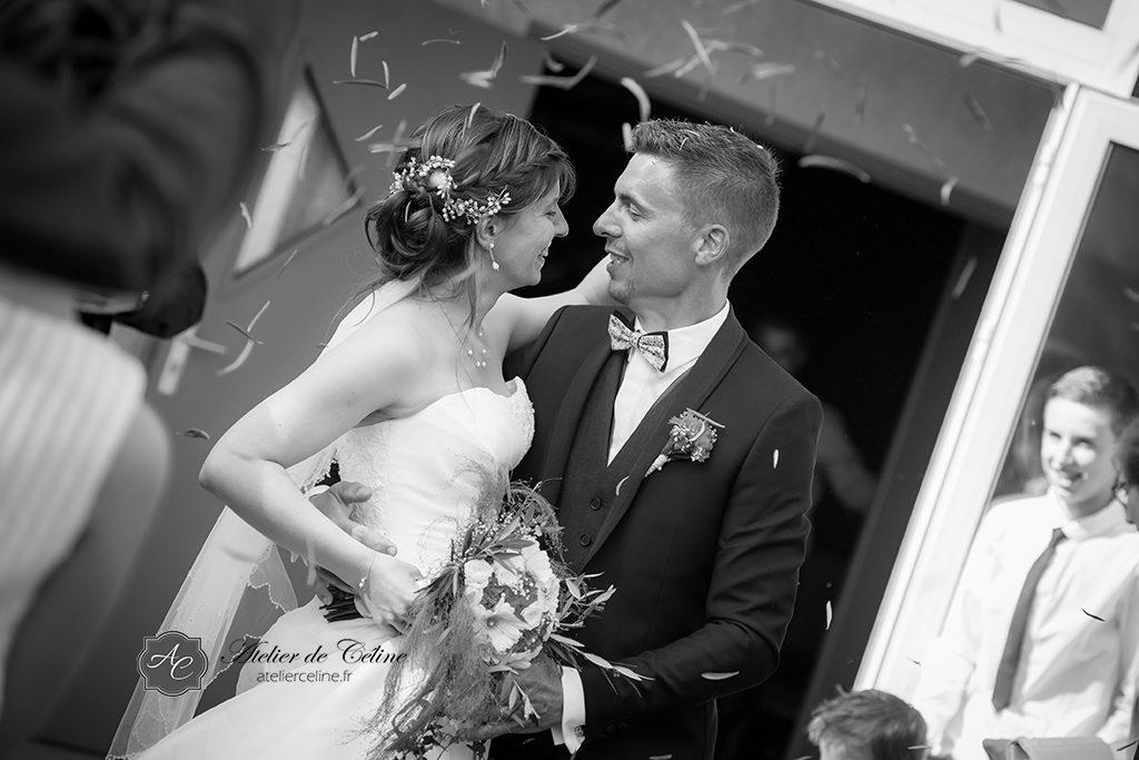 Mariage, cérémonie religieuse, couple, extérieur, église (1)