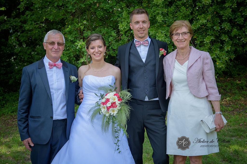 Mariage, famille, groupe, extérieur (4)