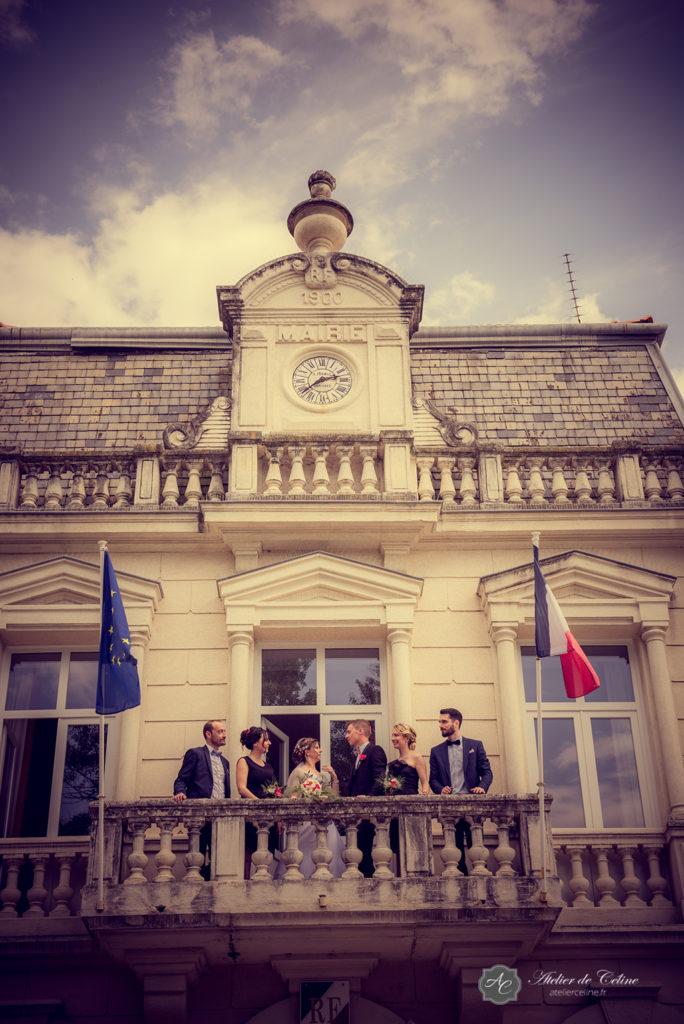 Mariage, couple, extérieur, mairie, cérémonie civile (3)