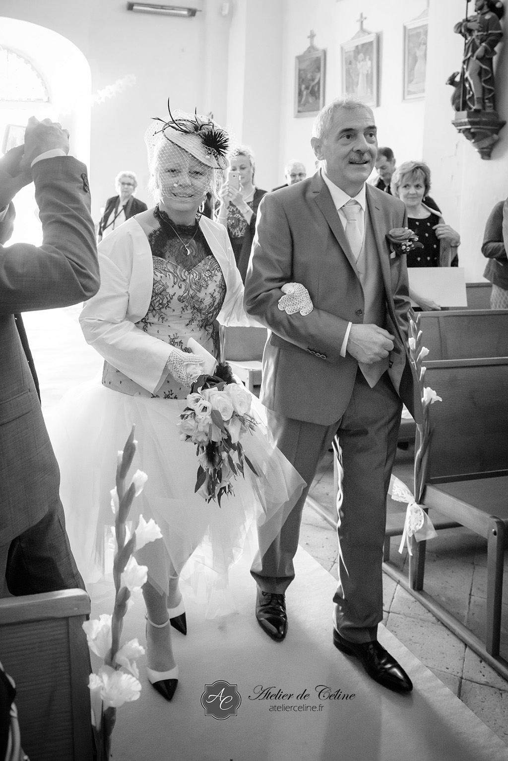 Mariage, cérémonie religieuse, église, couple (4)