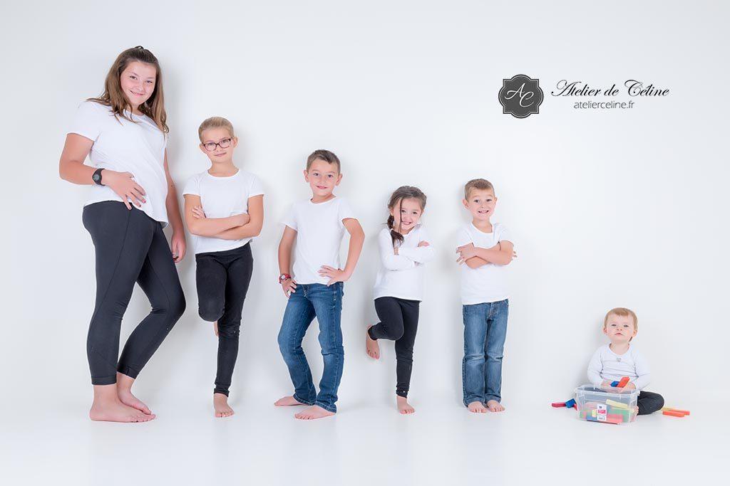 Séance famille, studio, enfants, parents, fille, garçon (3)