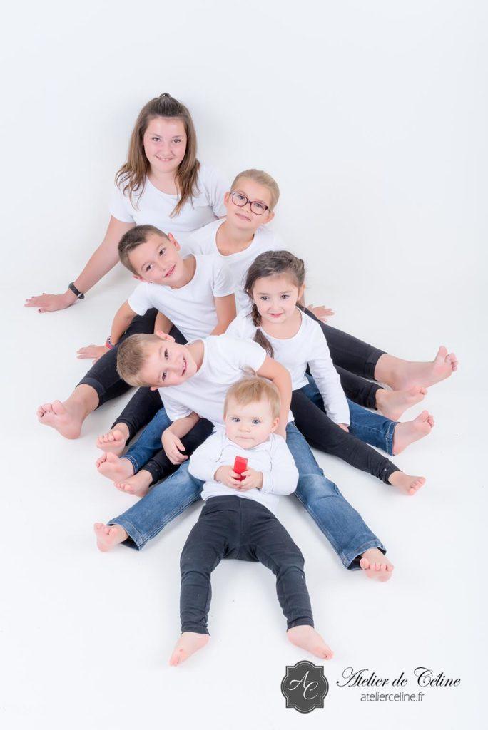 Séance famille, studio, enfants, parents, fille, garçon (2)