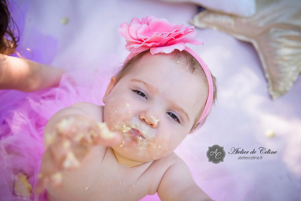 Séance Smash The Cake, enfant, bébé, 1 an, studio, extérieur (2)