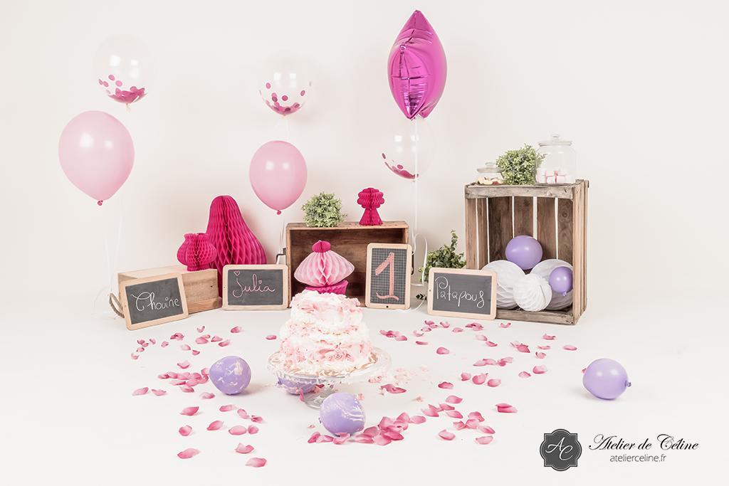 Séance Smash The Cake, enfant, bébé, 1 an, anniversaire, studio (5)